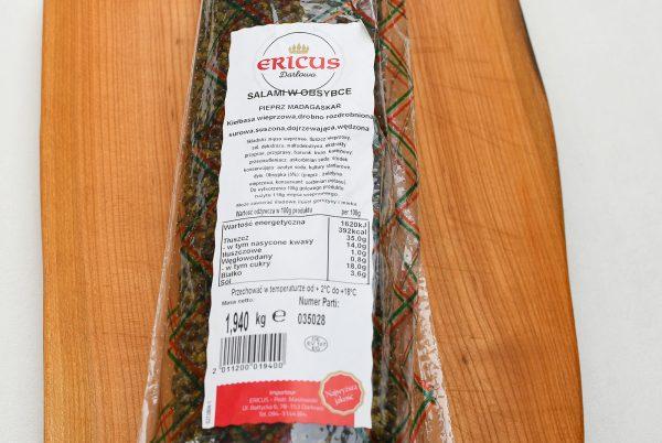 salami w obsypce pieprz Madagaskar